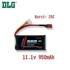 Genuine DLG RC Battery 11.1V 3S 15C 950mAh Burst 25C Li-Po LiPo Dean's T plug