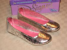 DISNEY YOUTH GIRL MEETS WORLD SILVER PINK BALLET FLATS SHOES SIZE 5 NIB