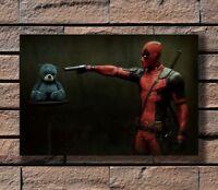 Marvel Deadpool Seiden Tuch Bild Leinwand Poster Comic Film Superheld Deko Neu