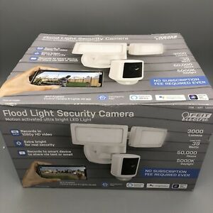 Feit Electric Smart Flood Security Camera Motion Activated Ultra Bright LED NOB