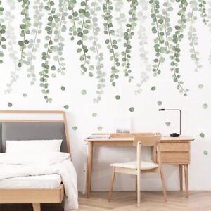Green Leaves Foliage Botanical Wall Stickers Bedroom Nursery Decals Art AU