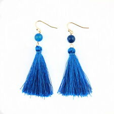 Fashion Bohemian Earrings Women Vintage Tassel Fringe Boho Nature Stone Earrings