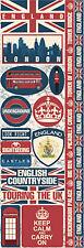 Reminisce ENGLAND COMBO Cardstock Stickers scrapbooking LONDON TRAVEL