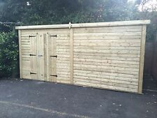 16x8 Tanalised Ultimate Pent Garden Shed/Office/Garage Security 19mm T&G