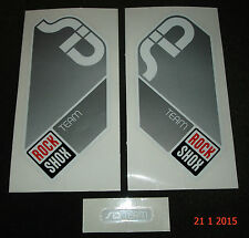 AUTHENTIC ROCKSHOX SID TEAM SILVER FORK KIT STICKER #1 AUFKLEBER DECAL ROCK SHOX