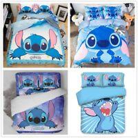 3D Disney Stitch Kids Bedding Set Duvet Cover Pillowcase Cartoon Quilt Cover
