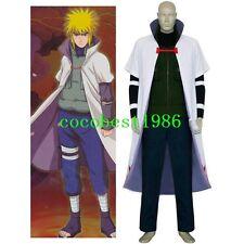 Naruto Yondaime 4th Hokage Halloween Cosplay Costume Jacket Vest Trousers Cape