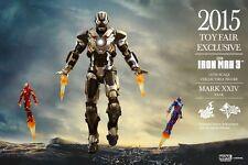 HOT TOYS 2015 Toy Fair Exclusive Iron Man 3 Tank (Mark XXIV) MK 24 1/6 Figure