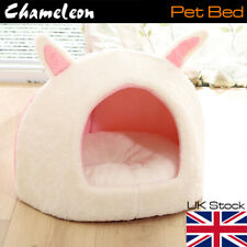 Pets House Igloo Padded Fleece Winter Bed Dog Cat hut House Kennel UK