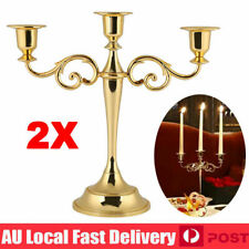 Vintage 3 Arms Candle Holder Stand Metal Candelabra Stick Home Wedding Decor