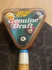 New listing Miller Genuine Draft Pool Cue and Rack Beer Tap Handle