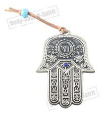 CHAI Hamsa Wall Hanging Judaica Kabbalah Pendant Lucky silver plated Gift