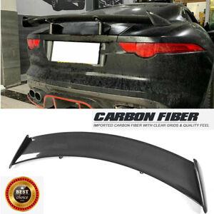 Fit For Jaguar F-TYPE Coupe 14-18 Rear Trunk Spoiler Sport Wing Carbon Fiber