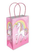 6 Unicorn Paper Handle Bags - Toy Loot/Party Bag Fillers Childrens/Kids Empty
