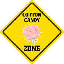 """*Aluminum* Cotton Candy Zone Funny Metal Novelty Sign 12""""x12"""""""