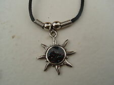 "SUN NECKLACE / PENDANT WITH 16"" BLACK CORD"