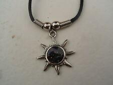 """Sun Collar/Colgante Con Cordón Negro 18"""""""