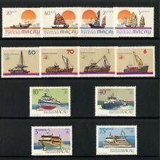 China Macau Macao Sc# 500-503 518-521 530-533 1984 1985 1986 Ship Stamps