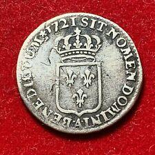 #2670 - RARE Louis XV 1/6 écu 1721 A Paris TTB- - FACTURE