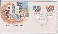 (Ice-69) 1981 Au Fdc 60c &18c Christmas