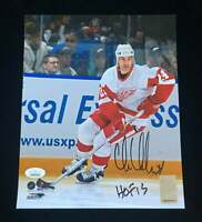 Chris Chelios Detroit Red Wings Signed Autograph 8x10 Photo JSA