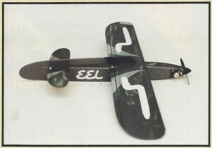 1/2A or Electric EEL Aerobatic Sport Airplane Plans,Templates, Instructions 40ws
