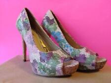 Multi-Colored Tropic High Heels by Torta Caliente - Women's U.S. 8M
