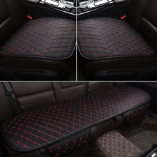Black Universal Car Rear Seats Covers Mat Leather Seat Cover Cushion Protector