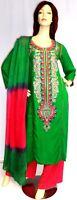 Shalwar kameez pakistani indian designer stitched salwar sari abaya hijab uk 16