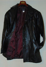 HABAND EXECUTIVE DIVISION MENS BLACK LEATHER JACKET PATCHWORK LEATHER COAT SZ M