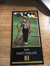 Fuzzy Zoeller 1979 Masters  Signed Black Masters Card
