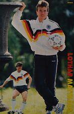 LOTHAR MATTHÄUS - A3 Poster (ca. 42 x 28 cm) - Fußball Clippings Sammlung NEU