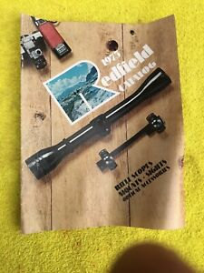 VINTAGE 1975 REDFIELD RIFLE SCOPES, MOUNTS, SIGHTS & OPTICAL ACCESSORIES CATALOG