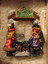 Komozja Mostowski Santa's Workshop Glass Ornament In Wooden Box Limited Edition