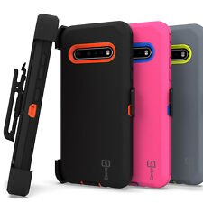 For LG V60 ThinQ 5G Shockproof Military Grade Belt Clip Holster Phone Cover Case