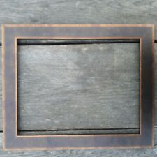Gold distressed picture photo frame 14 inch x 11 inch wood my ref30