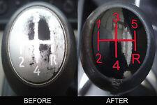 Renault Laguna Megane II Scenic 5 Gear Stick Knob Insert Cover sticker Kit .