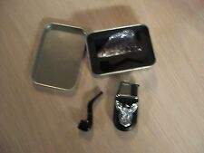 EAGLE TORCH REFILLABLE BUTANE LIGHTER & PIPE TIN SET (PREOWNED)