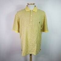 Masters Mens Extra Large Yellow Stripe Polo Shirt Augusta National Cotton
