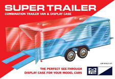 """Super """"Clear Display Case"""" Car Trailer for 1:25 Scale Models MPC Plastic Kit"""