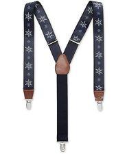 Club Room Mens Snowflake Medium Suspenders, Blue, One Size ()