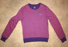 NWOT Nike The Athletic Dept Purple Pink Stripe Sweatshirt Youth M