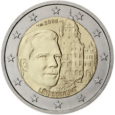 """2008 Luxembourg 2 Euro Uncirculated Coin """"Chateau de Berg"""""""