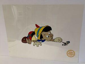 "Walt Disney 1940 limited edition serigraph ""Pinocchio Pinocchio + Jiminy Cricket"