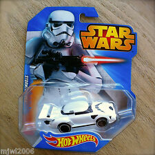 Disney STAR WARS Hot Wheels STORMTROOPER #8 diecast by Mattel Imperial white