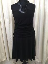Dress South size 18 Black Halter Neck New