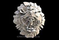 3D STL Models for CNC Router Engraver Carving Artcam Aspire Pirate Skull 259