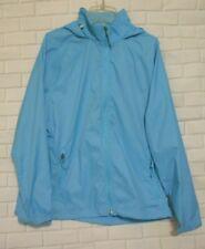 L.L. Bean Small Blue Nylon Lightweight Zippered Hooded Windbreaker Jacket