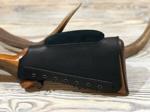 Real Leather Buttstock Holder Butt Stock Protection Cover Cheek Rest Padded