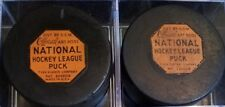 Vintage LOT NHL ART ROSS CCM TYER  MADE IN USA GAME PUCK pat#2226516 RUBBER LOGO